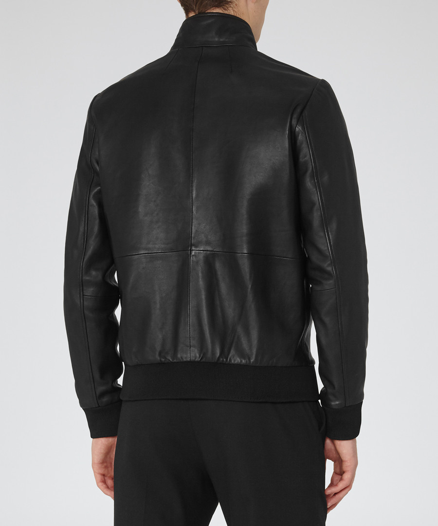 ... Men s Blaze black leather jacket Sale - ... c29eab887dc1