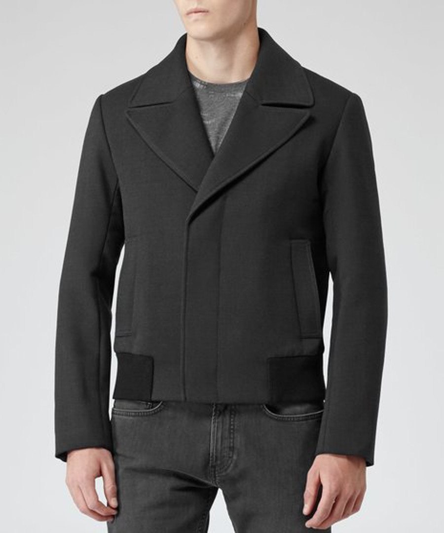 Men's Theodore charcoal collared jacket Sale - Reiss