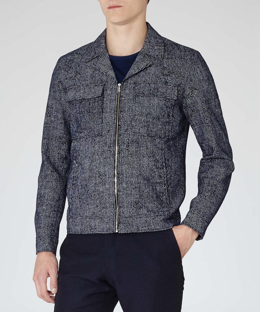 Men's Hartnett navy pure cotton jacket  Sale - Reiss