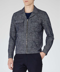 Hartnett navy pure cotton jacket