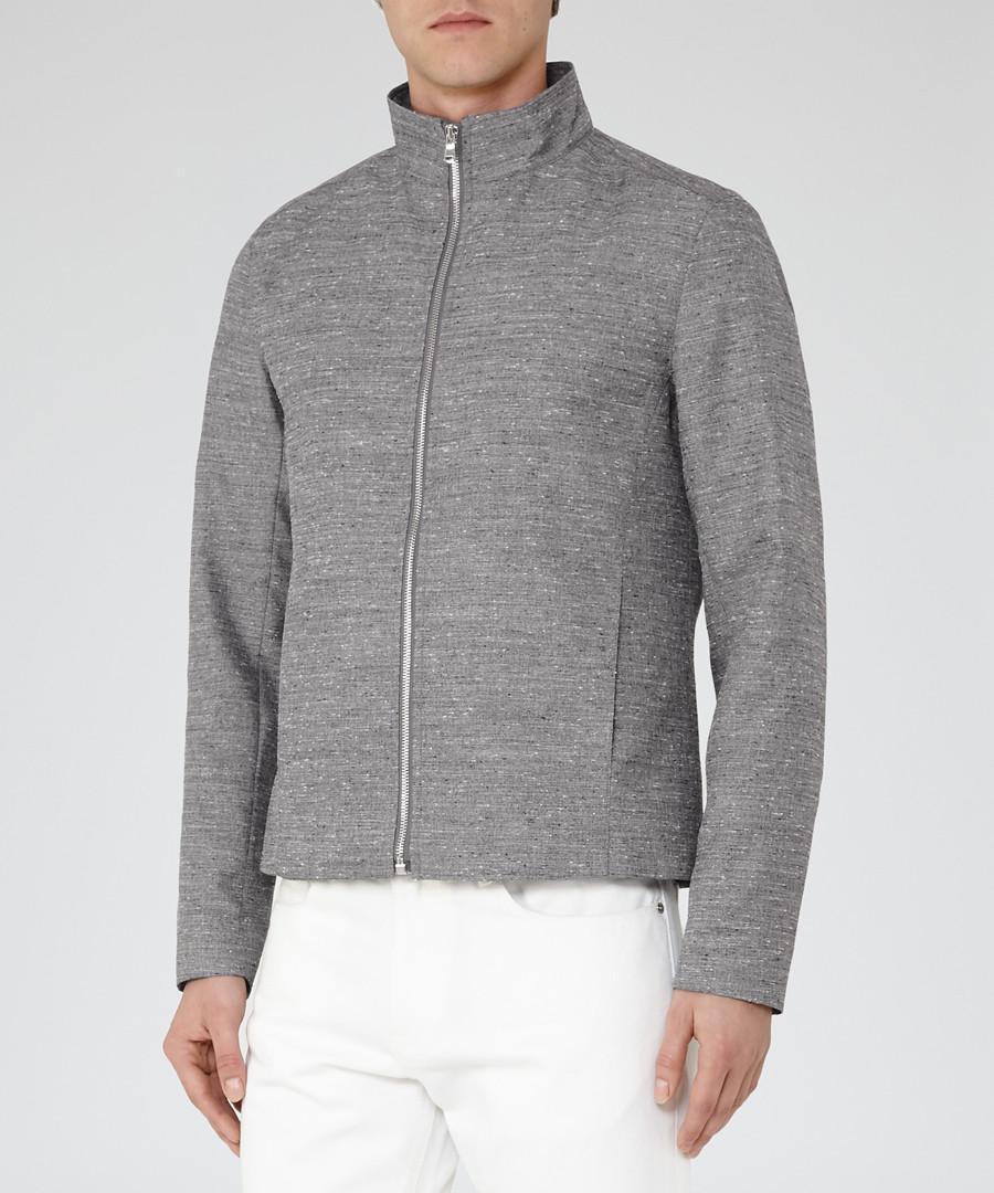 Men's Ace grey funnel neck jacket  Sale - Reiss