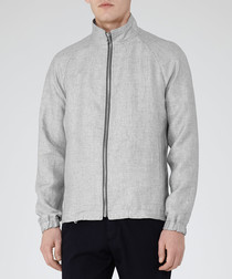Motive grey pure linen jacket