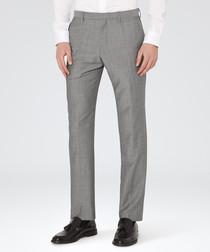 Garth grey wool modern fit trousers