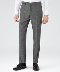 Lance charcoal wool trousers