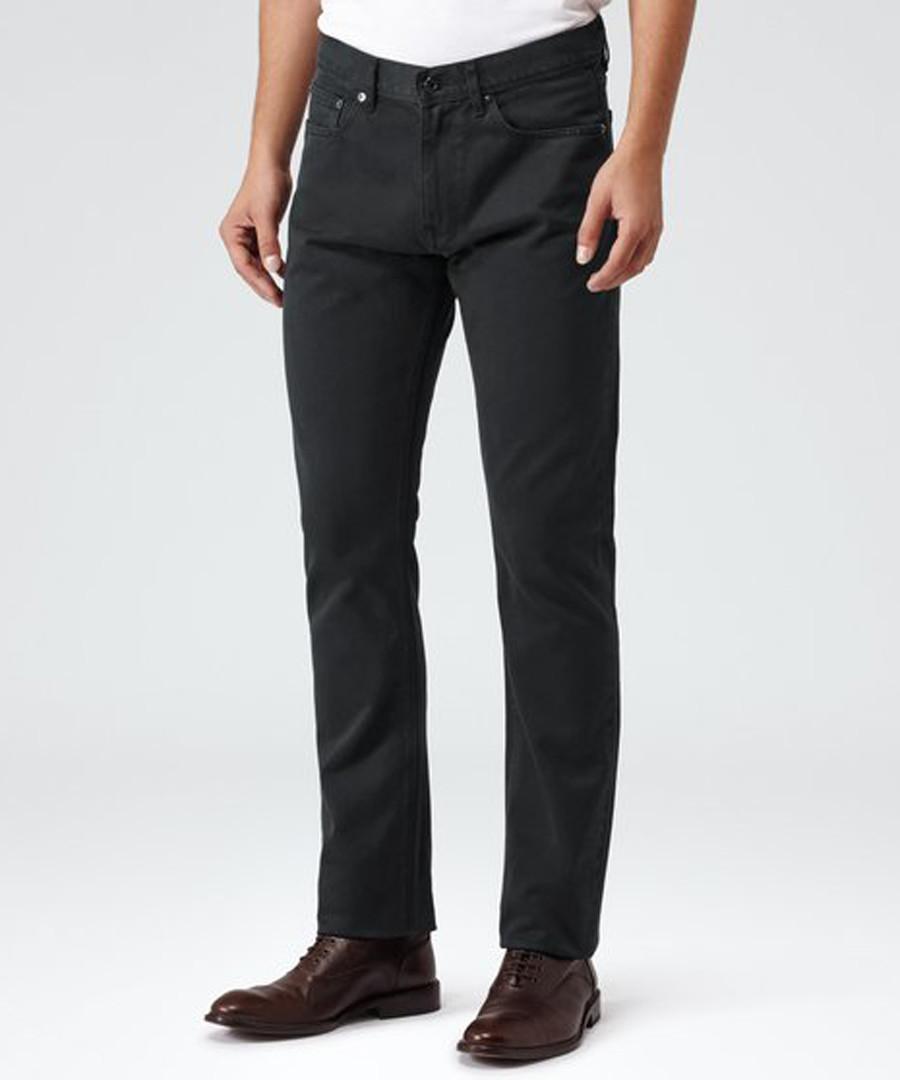 Blackbird black cotton trousers Sale - Reiss