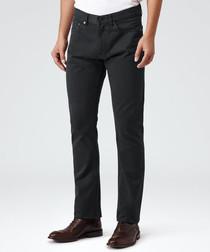 Men's Blackbird black cotton trousers