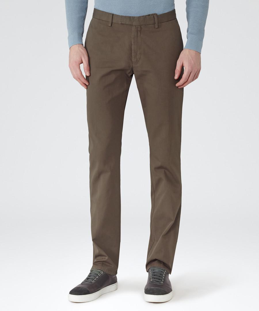 Tullum khaki cotton trousers Sale - Reiss