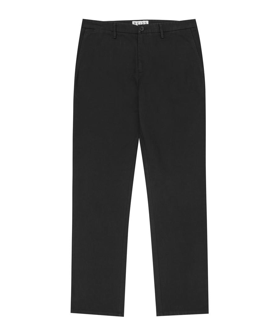 Tyburn black pure cotton chinos Sale - Reiss