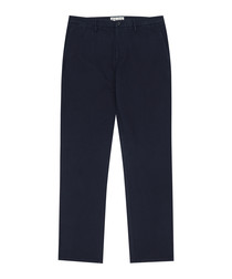 Tyburn navy pure cotton chinos