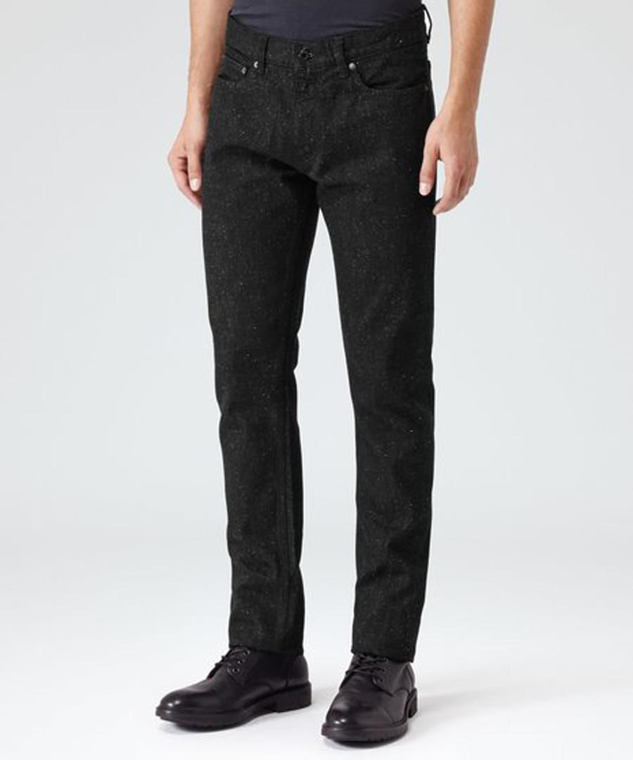 Men's Stinger black cotton trousers Sale - Reiss