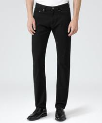 Men's Maurice black cotton trousers