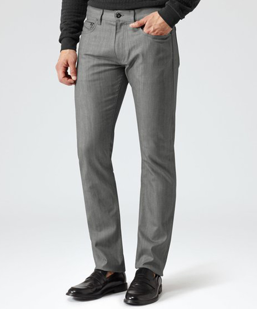 Men's Slater grey cotton blend trousers Sale - Reiss