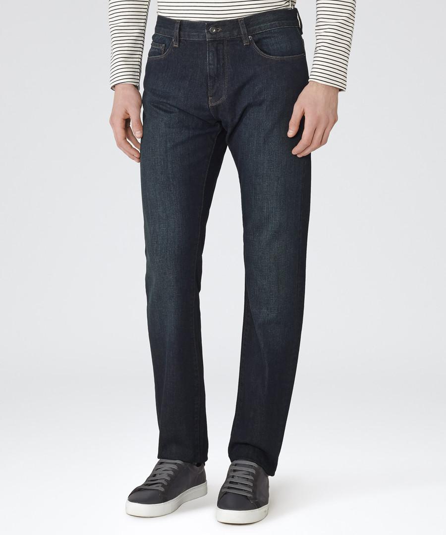 Men's Mobb blue cotton straight jeans Sale - Reiss
