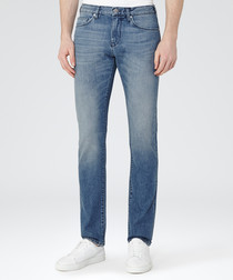 Men's Gunther blue cotton blend jeans