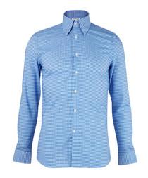 Freddy blue pure cotton polka dot shirt