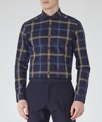 Bandit navy blue pure cotton shirt