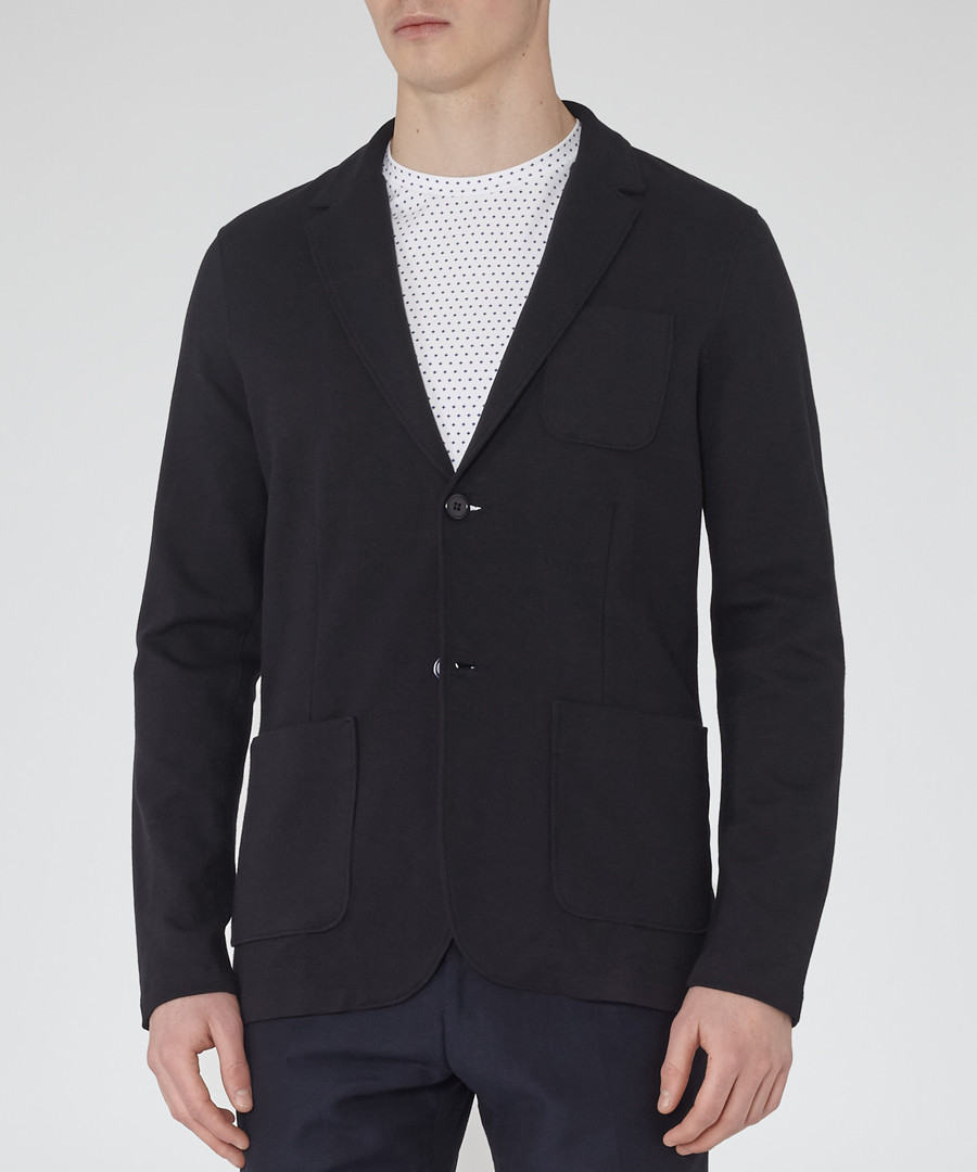 Morsby navy cotton blend jacket Sale - Reiss