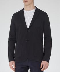 Morsby navy blue cotton blend jacket