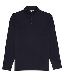 Pablo navy pure cotton polo shirt