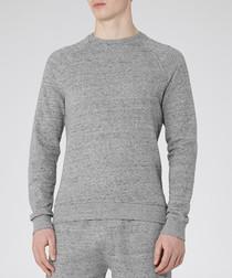 Truman grey melange cotton blend top
