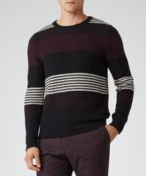 Rigour burgundy pure cotton jumper