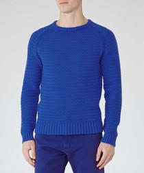 Chiswick blue pure cotton jumper
