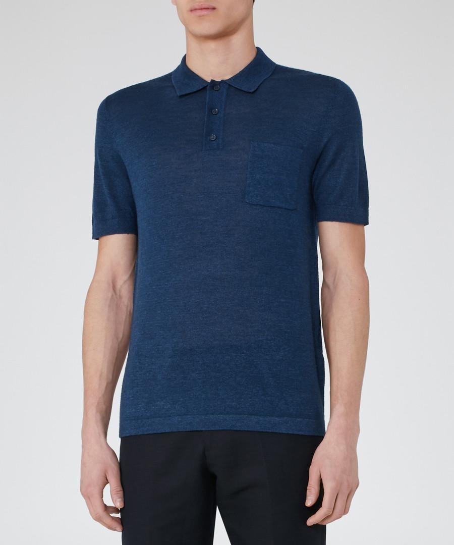 Hendrick indigo wool blend shirt Sale - Reiss