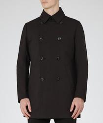 Men's Oliver black cotton blend jacket