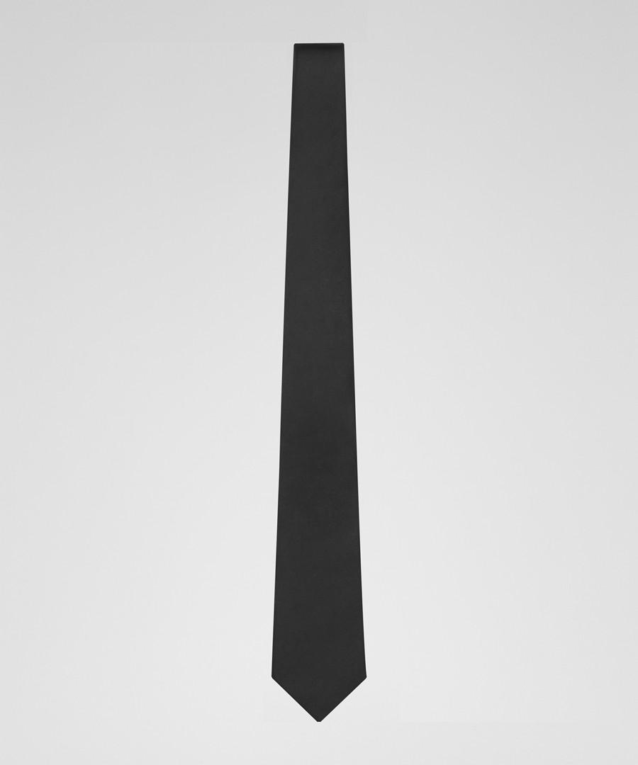 Brooker black pure silk tie Sale - Reiss