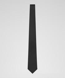 Brooker black pure silk tie