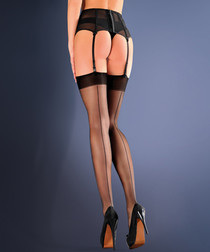 Effi black hold-up stockings