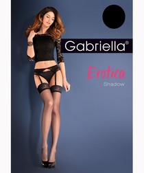 2pc Shadow black stockings & belt