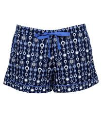 Navy cotton blend pyjama shorts