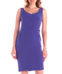 Lilac cotton blend sleeveless dress