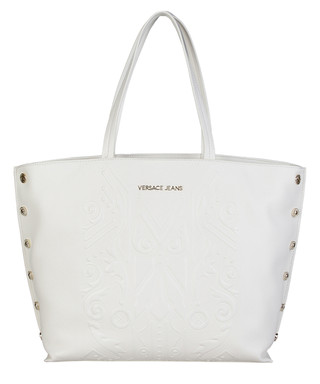 4e4722b4b91d White stud detail shopper bag Sale - Versace Jeans Sale