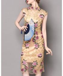 Apricot floral dress
