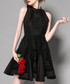 Black sleeveless flared dress Sale - Zeraco Sale
