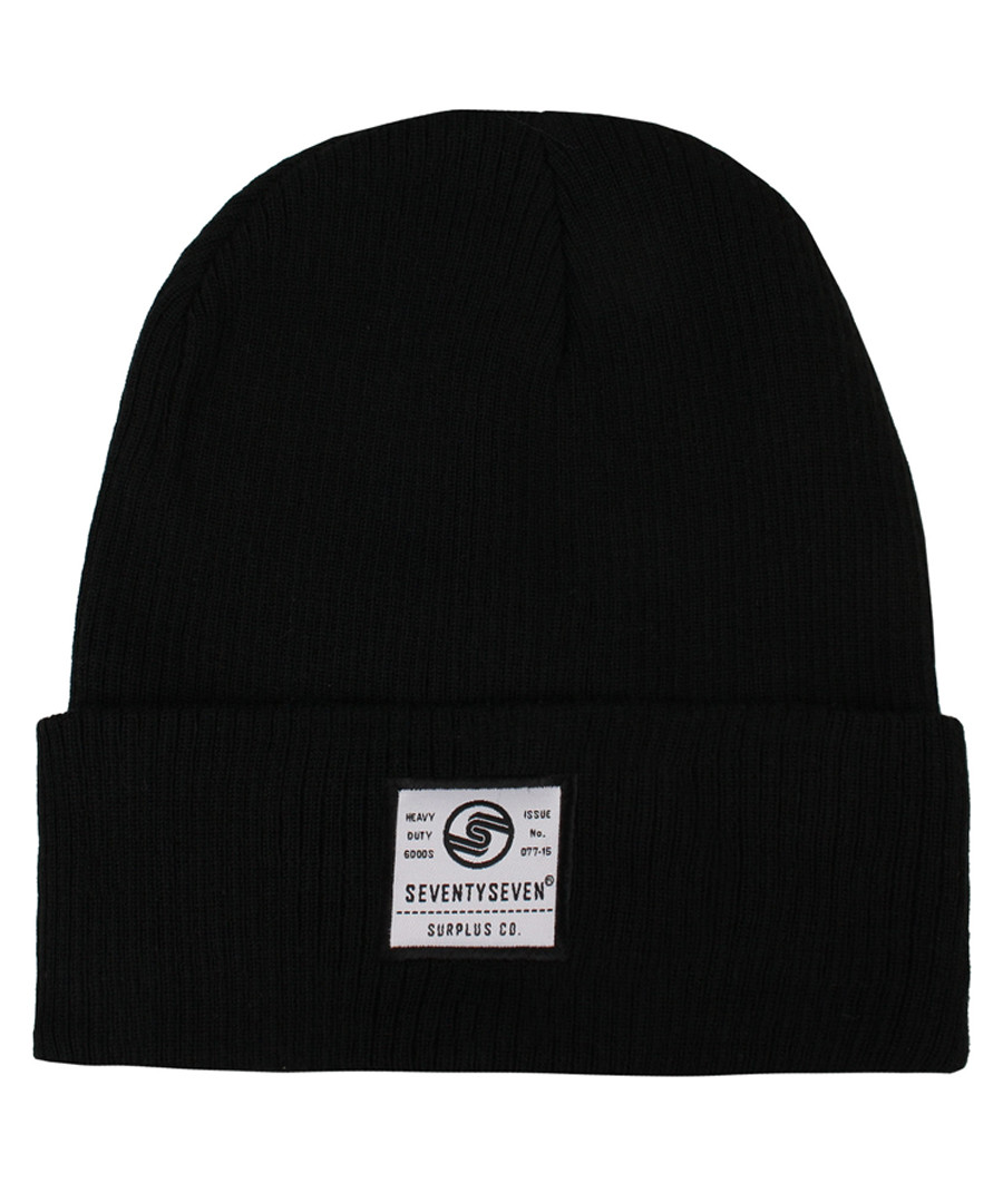 Surplus Co black ribbed beanie hat Sale - seventy seven