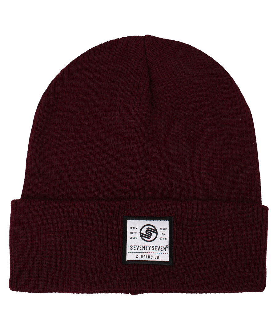 Surplus Co burgundy ribbed beanie hat Sale - seventy seven