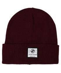 Surplus Co burgundy ribbed beanie hat