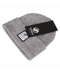 Surplus Co grey ribbed beanie hat