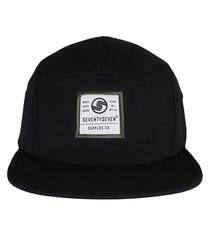 Canvas black cotton logo cap