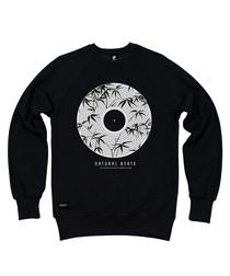 Natural Beats black cotton blend jumper