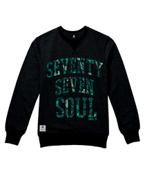 Tropical Soul black cotton blend jumper