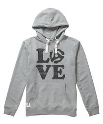 Love Vinyl grey cotton blend hoodie