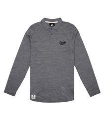Signature grey pure cotton polo shirt