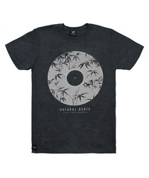 Natural Beats grey pure cotton T-shirt