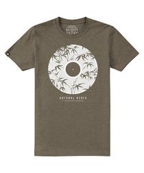 Natural Beats khaki cotton blend T-shirt
