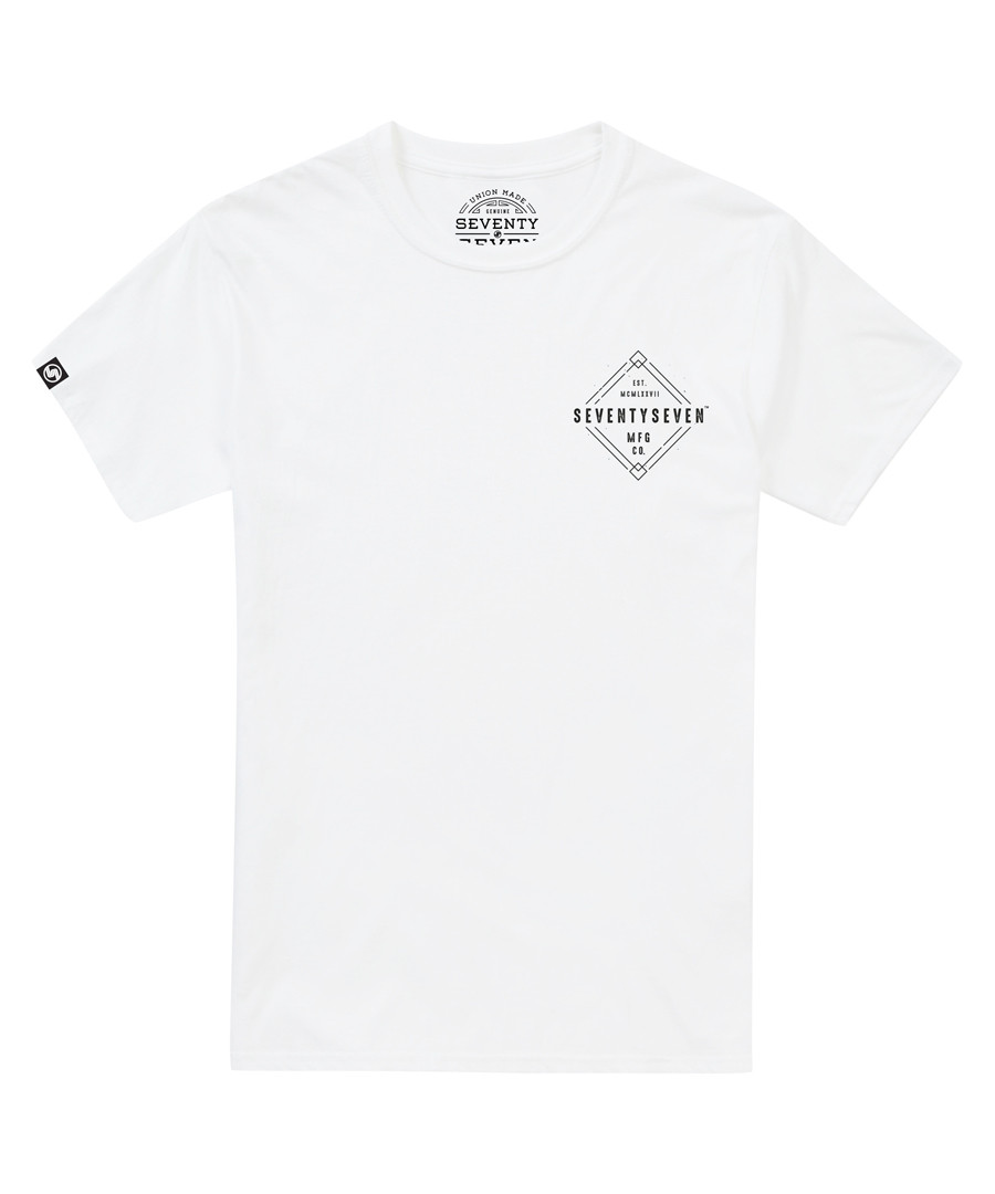 Diamond white pure cotton T-shirt Sale - SEVENTY SEVEN