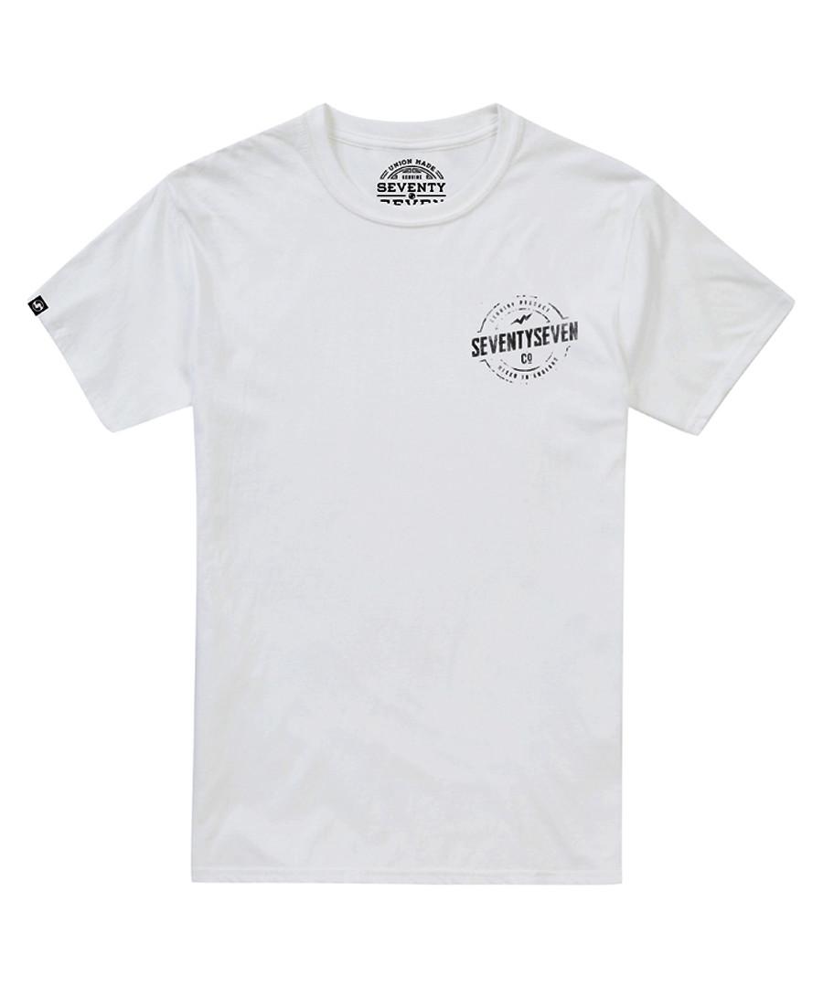 Genuine white pure cotton T-shirt Sale - SEVENTY SEVEN